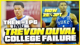 What Went WRONG With TREVON DUVAL'S Freshman Year At DUKE? | #1 PG To UNDRAFTED In ONE Year!