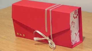 Clutch Bag Gift Box Tutorial using Flowering Flourishes by Stampin' Up
