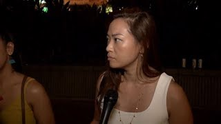Watch Hong Kong protester forget why she's protesting