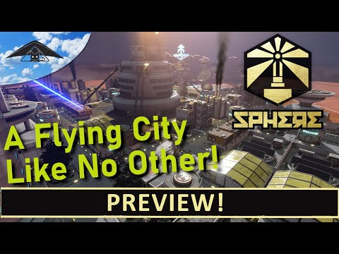 Sphere Flying Cities Preview [ Flying Space Colony Builder ]