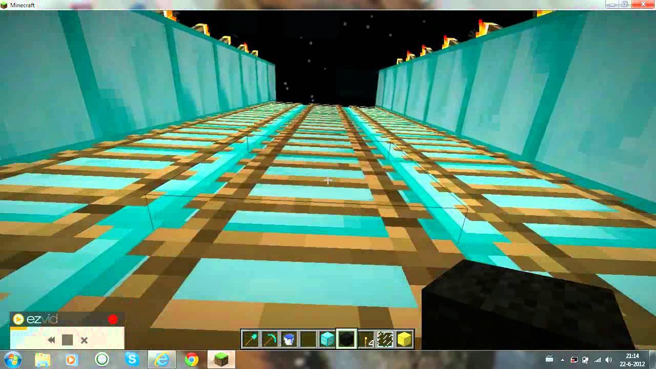 minecraft   mijn eerste zwembad met glijbanen !   You