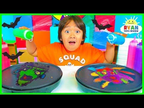 Pancake Art Challenge Mystery Wheel Halloween Edition!!