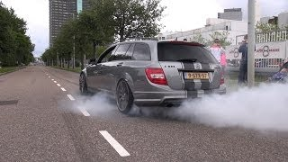 770HP Supercharged Mercedes Weistec C63 AMG Estate - BURNOUT!