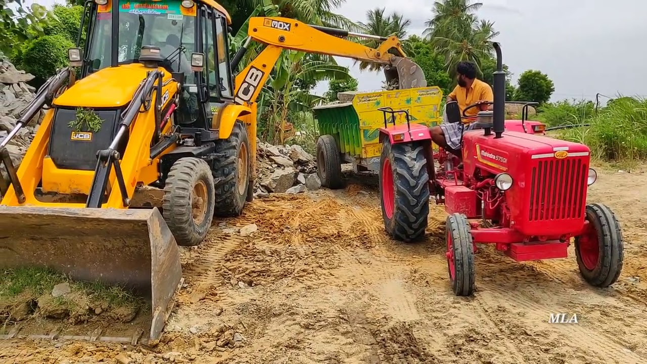 Mahindra 575 Di power plus tractor with fully loaded trolley | John Deere tractor power | CFV