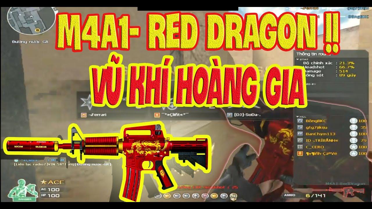 """❤️[M4A1 RED DRAON]  Vũ khí dành cho """" HOÀNG GIA"""" 1 thời vang bóng CFVN  ❤️ SHADY"""
