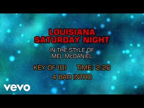Mel McDaniel - Louisiana Saturday Night (Karaoke)
