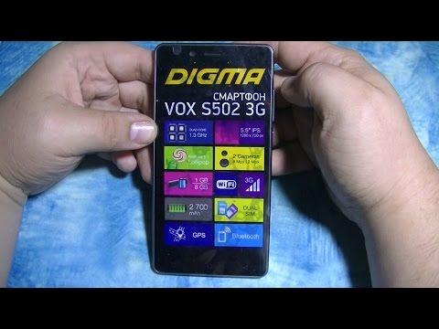 Обзор смартфона  Digma VOX S502 3G