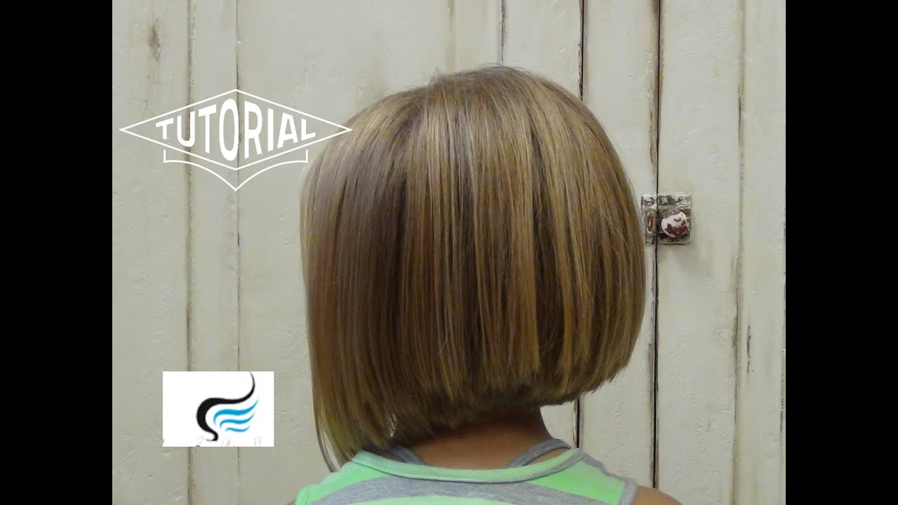 adorable a-line hairstyle for little girls - youtube