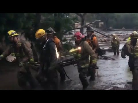Searching for survivors after California mudslides