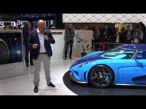 [4k] Chistian von Koenigsegg Press Conference Geneva 2018 with Regera x 2 and CCX