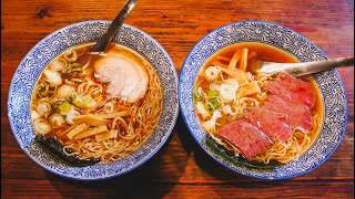 Trying Takayama Ramen + Hida Beef in Takayama, Japan