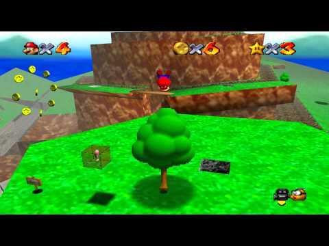 Super Mario 64 - Bob-omb Battlefield - All stars