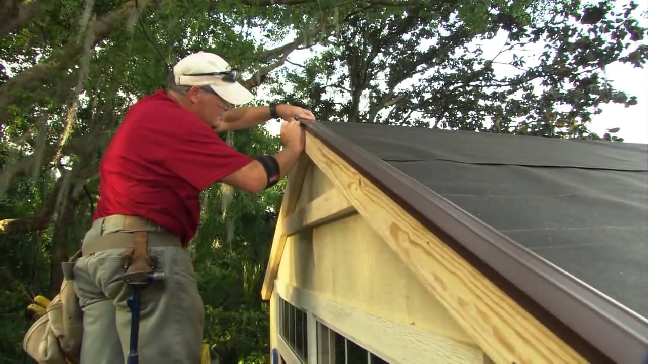 How to Install Roof Shingles on a Shed - YouTube