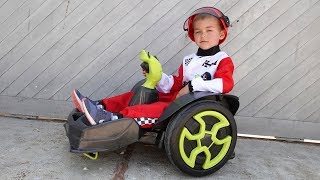 BABY Dima Unboxing Power Wheels Mad Racer