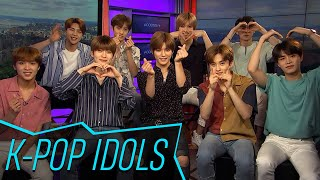 NCT 127 sits with Access and tries out iconic New York City foods l...
