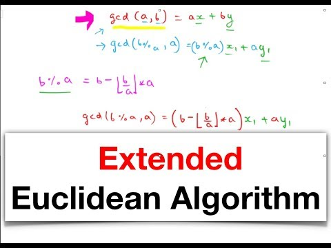 Euclidean and Extended Euclidean Algorithm.   CSS from YouTube · Duration:  13 minutes 42 seconds