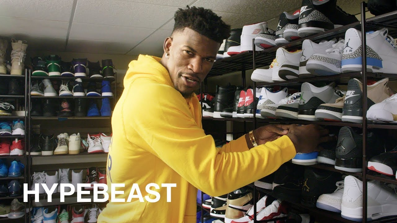 Jimmy Butler Shows Us His Massive Jordan Collection And Outfits For Nba Playoffs Hypebeast Visits Youtube