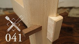 Joint Venture Ep.41: Pegged diagonal through mortise and tenon (Joinery)