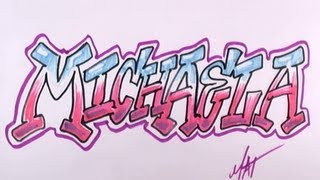 Graffiti Writing Michaela Name Design - #10 in 50 Names Promotion