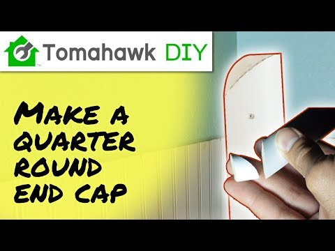 How to Cut Quarter Round End Cap or Return