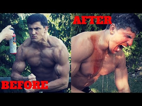 BODYBUILDER VS BEAR PEPPER SPRAY *EXTREMELY PAINFUL* | Crazy Bear Mace Challenge GONE WRONG