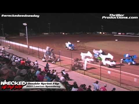 Wrecked Wednesday 9 Double Flip at Lawton Speedway in 2011