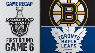 Marchand, Bruins defeat Maple Leafs to force Game 7