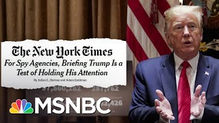 Lengths To Which Trump's Intelligence Team Must Go To Get Him To Pay Attention | Deadline | MSNBC