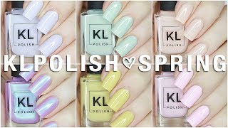 NEW KL POLISH SPRING 2018 |  Ethereal Garden Collection Live Swatches + Review