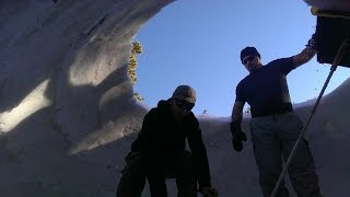 Time Lapse 11 Ft Packed Snow Igloo Build  At Echo Lakes, Ca. Grand Shelters Ice Box  Tool