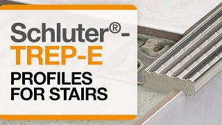 How to install tile edge trim on stairs: Schluter®-TREP-E profile