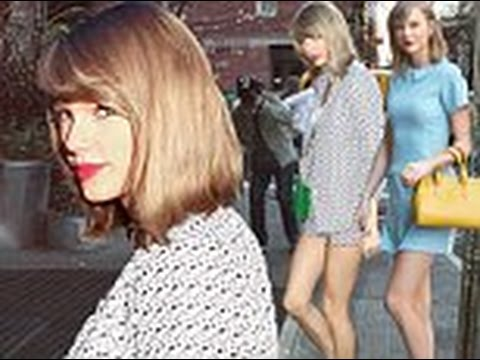 Taylor Swift shows off her toned legs in shorts for girls' dinner in NYC before changing into prim d