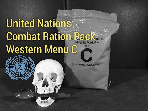 RARE United Nations 24 Hour MRE: Western Menu C -- (featuring Chick Pea and Mutton Stew)