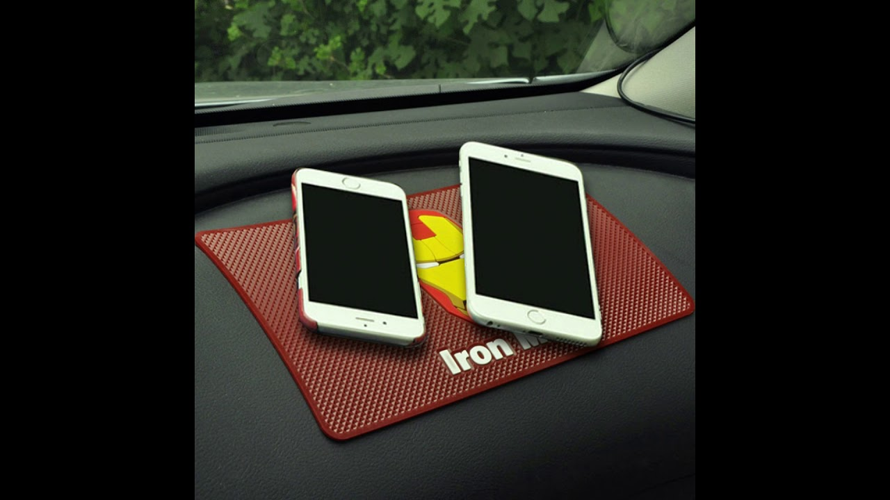 Anti Slip in Car Dash Sticky Mat Dont Melt under Hot Sun Heat Resistant Ganvol Pack of 2 Car Dashboard Non slip Mobile Phone Grip Mat Auto Keys Holder 13.5 x 7 cm Multi Purpose Sticky Pads