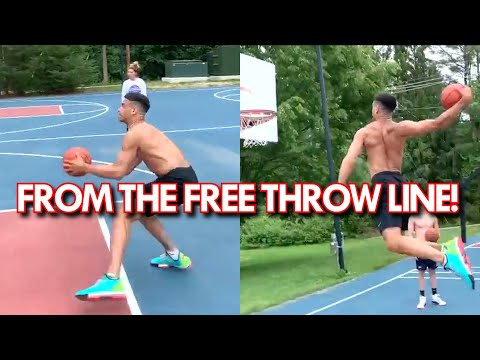 He WINDMILLED from the FOUL LINE OFF TWO FEET! Nate Hobbs LONG JUMPER turned DUNKER!