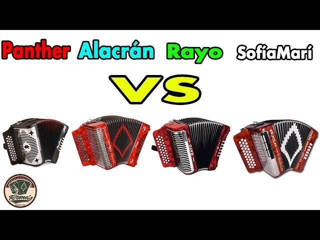 Hohner Panther vs Hohner Rayo vs Alacran vs SofiaMari. Batalla de acordeones.
