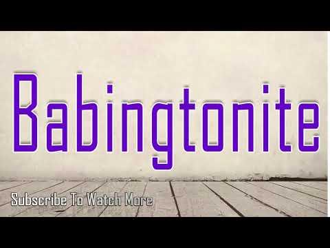 How to Pronounce Babingtonite