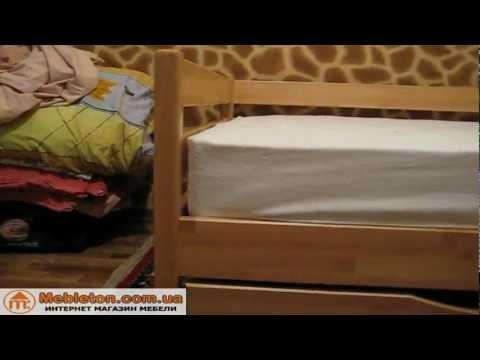 Cмотреть видео Кровать деревянная Нота