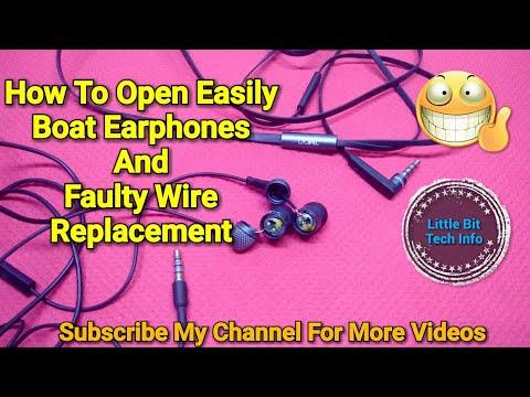Boat Basshead 225 in-Earphone Repair | Easy Open | Wire Replacement