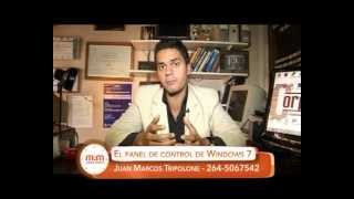 Juan Marcos Tripolone en A Media Mañana por Canal 8 San Juan TV - Panel de Control de Windows 7