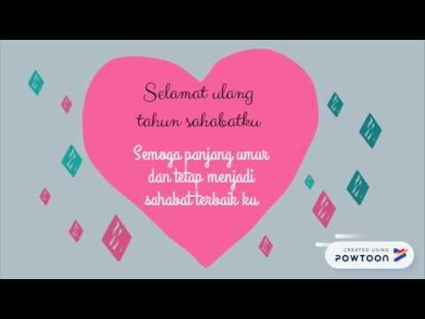 Ucapan Selamat Ulang Tahun Untuk Sahabat Terbaru 2018 Animasi Powtoon Youtube