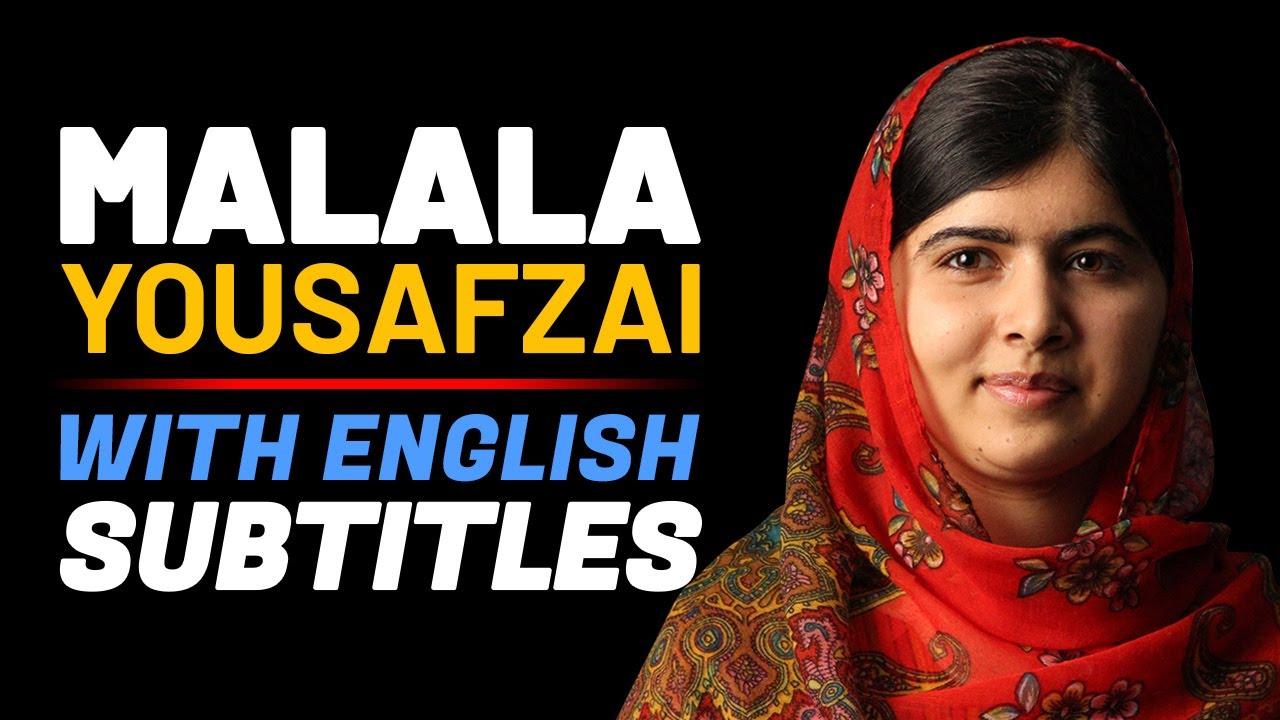 MALALA YOUSAFZAI: Child Education & Girl's Right | English Speech | English Speech with Subtitles