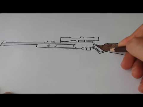 DÜRBÜNLÜ SİLAH ÇİZİMİ (how to draw a gun )
