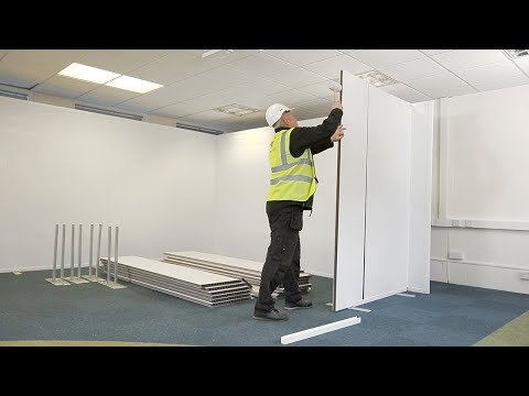Quick, clean to install, Temporary Internal Partitioning; Hoardfast Standard PVC