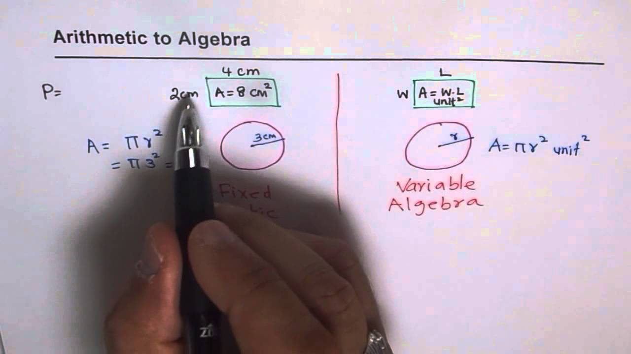 Understand Difference Between Arithmetic and Algebra - YouTube