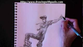 Drawing a skater with Paolo Morrone