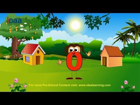 Learn Number 0 (www.idaalearning.com)