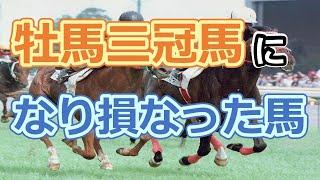 牡馬三冠馬になり損なった馬ランキング