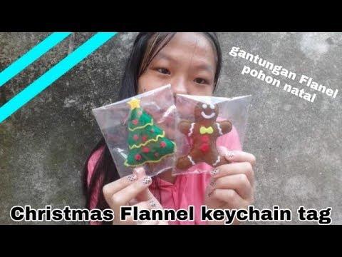 Ada Gantungan Kue Jahe ?!!    Christmas Flannel Keychain Tag    Cindy Caroline