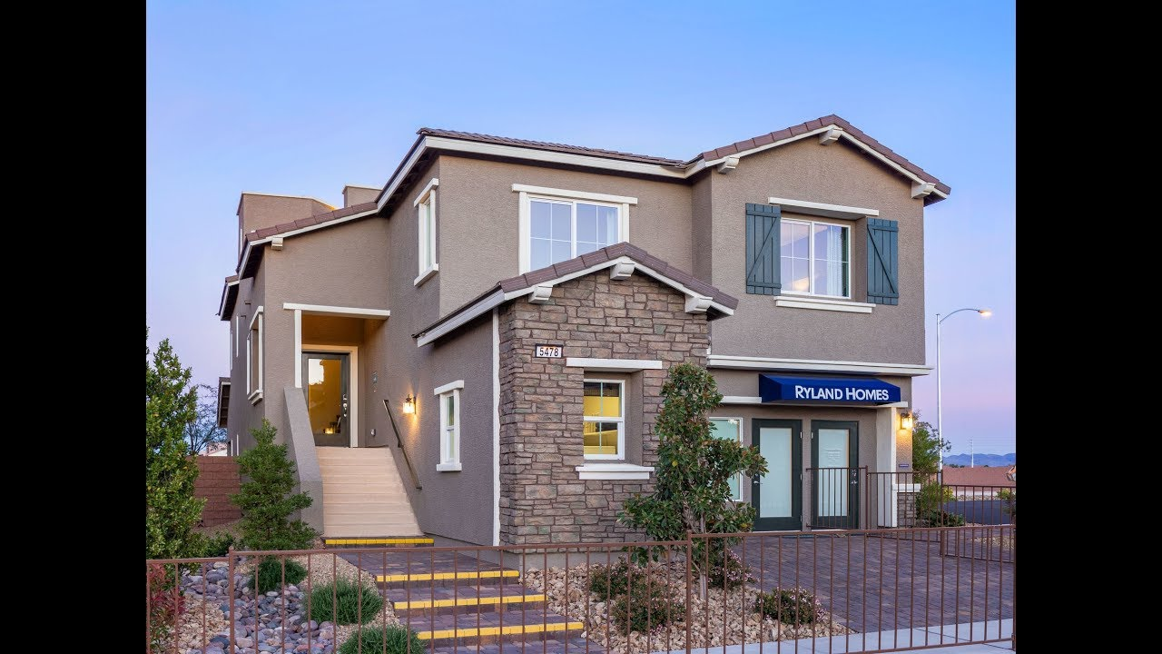 Seville Model Home 2823 Sq Ft By Calatlantic Homes Myheaven Las Vegas House Tour Rooftop Deck